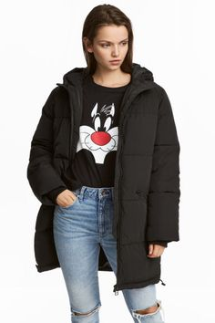 Padded jacket - Black - Ladies   H&M GB 1
