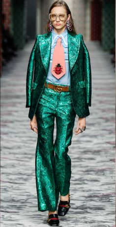 Next season will have you thinking more creatively than the little black dress. Gucci, Spring 2016.