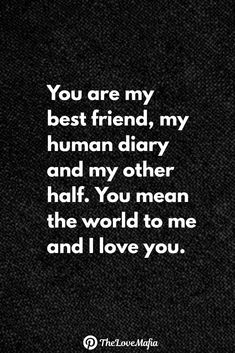 Searching for Love Quotes for Her? Even though you love your girl . Best Friendship Quotes, Bff Quotes, Best Friend Quotes, Crush Quotes, Mood Quotes, Funny Quotes, Love Quotes For Him Romantic, Love Quotes For Her, Cute Love Quotes