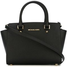 Michael Michael Kors Selma Bag ($320) ❤ liked on Polyvore featuring bags, handbags, tote bags, bags and purses, purses, black, man bag, handbags totes, man tote bag and tote purses