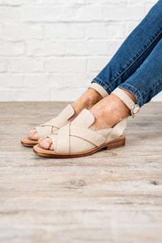 621a42005343 Satpreet Kahlonshoes · - Leather sandal - Overlapping straps design - Ankle  strap - Open back - True to