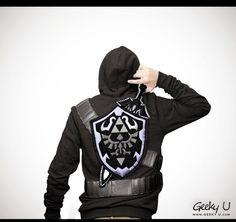 Dark Zelda-inspired Sweatshirt Hoodie by Geeky U