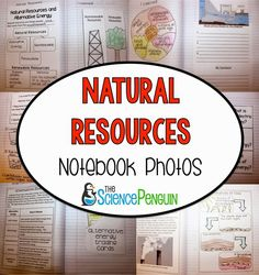 Science TEKS Natural Resources Science Notebook Photos: Renewable Resources, Nonrenewable Resources, and Alternative Energy Science Resources, Science Lessons, Science Education, Teaching Science, Science Activities, Teaching Ideas, Energy Resources, Science Fun, Life Science