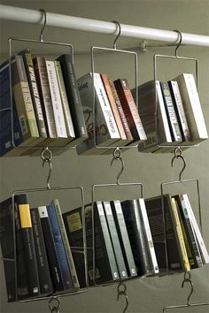 I know someone who needs these . . Unique Bookshelves. Salkim Hanging Bookshelf
