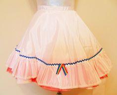 Clown Costume Rainbow Slip Crinoline by JazzieMenagerie on Etsy, $35.00
