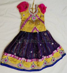 Pearl Work Indian Kids Lehenga