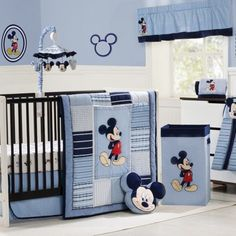 MICKEY MOUSE Classically Cute 4-Piece Crib Bedding Set Price: $159.99