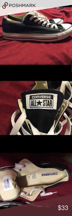 Converse Chuck Taylor's Black Converse All-Stars. Unisex Men's 10 Women's 12 New w/o box Converse Shoes Sneakers
