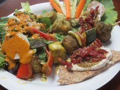 Raw Mediterranean Plate, Chef Tomas Zazycki, Veggos (Lake Forest, CA) #vegan