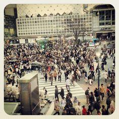 渋谷駅 Shibuya Sta. - near most famous four-way crosswalk in the world