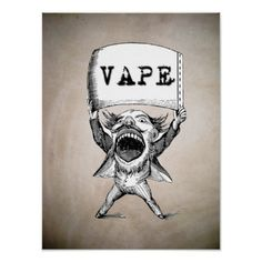 Vintage Vape  High Quality Poster