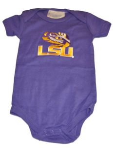 3e0e7647f LSU Tigers Two Feet Ahead Infant Baby Lap Shoulder Purple One Piece Outfit