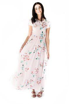 Petal in Pink Maxi Dress, Ivory Love Rose Midi Dress, jessakae, floral dress, shop jessakae, fashion, style, womens fashion, floral, dress, blonde, hair, makeup, floral maxi dress