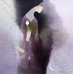 Somber and dreamy portraits painted by Vietnamese artist Do Duy Tuan - ego-alterego.com