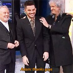 Roger Taylor, Adam Lambert, and Brian May on Good Morning America to announce Queen summer tour