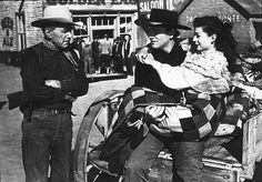 John Wayne, Gail Russell and Harry Carey in Angel And The Badman 1947 Old Hollywood Style, Hollywood Cinema, Hollywood Actor, Iconic Movies, Old Movies, Man Carrying Woman, Harry Carey, Republic Pictures, John Wayne Movies