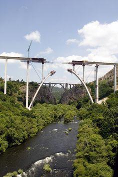 Construcción viaducto Río Ulla. (Tramo Ourense-Santiago). Autor: FJ Abad