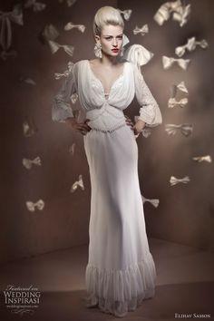 http://weddinginspirasi.com/2011/02/07/elihav-sasson-2011-bridal-collection/  Wedding dress with sleeves by Elihav Sasson 2011 haute couture  #weddings #weddingdress
