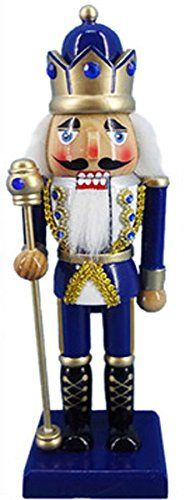 Christmas Nutcracker Figure King Royal Blue Jacket and Crown With Sparkle Rhinestones 10 Inch Exclusive Design *** This is an Amazon Affiliate link. Check out the image by visiting the link.