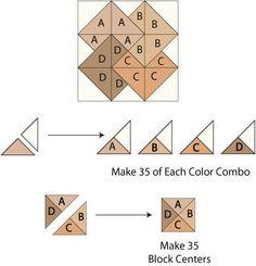 Free Big Block Quilt Patterns | Card Trick Block Components