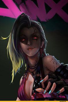 l'art, de belles images, Jinx, League of Legends, jeux