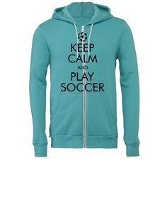 Keep Calm and Play Soccer2 - Unisex Full-Zip Hooded Sweatshirt