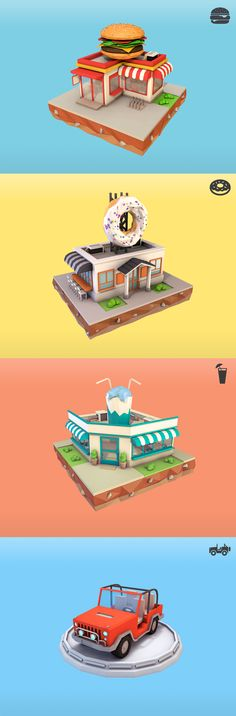 Low Poly City Pack on Behance