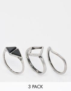 Изображение 1 из Набор колец ограниченной серии с геометрическим дизайном