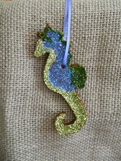SALE  Apple Cinnamon Glitter Seahorse by GlitteringMoon on Etsy, $4.25