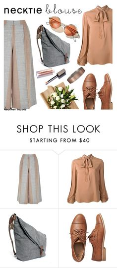 """Fall Trend: Necktie Blouse"" by heather-reaves on Polyvore featuring TIBI, Kobi Halperin, Gap, Abercrombie & Fitch and falltrend"