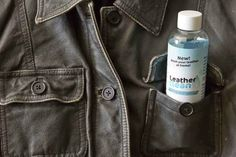 Leather Clean Wash Leather at Home No More Dry Cleaning Good for the Environment #LeatherClean Can be safely used in clothes washer.