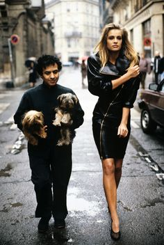 Azzedine Alaia - 1980s. #design #brilliance #fashion............Be a dear Azzadine and carry my dogs! Thank you darling! :D