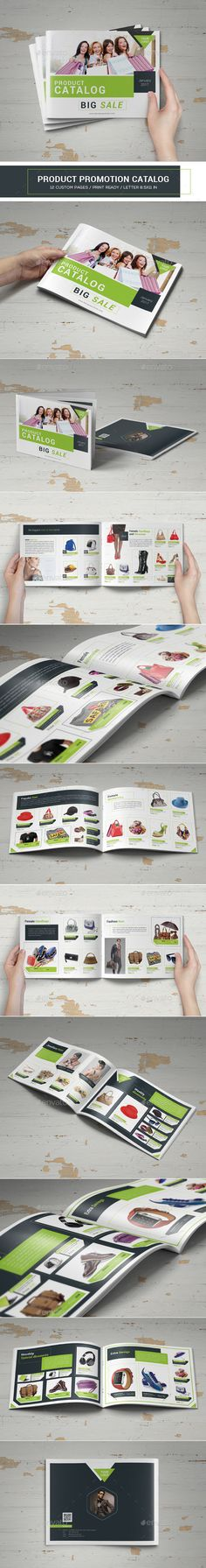 Buy Product Promotion Catalog by on GraphicRiver. This indesign template can be used for business and personal uses. Features US Letter Size 12 Pages InDesign Template. Stencil Templates, Indesign Templates, Newsletter Templates, Menu Templates, Travel Brochure Template, Brochure Design, Product Catalog Template, Product Catalogue, Catalog Design