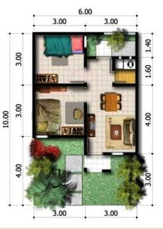 3 Room Design House To ensure a single attached type house the lot frontage width must be at least 134 meters. If you find a house plan or garage plan featured on a compe. Small House Floor Plans, My House Plans, Model House Plan, Home Design Plans, Plan Design, Beautiful House Plans, Beautiful Homes, Small House Design, Modern House Design