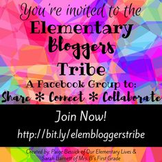 Elementary Bloggers Tribe.  A facebook group to share, connect and collaborate with other elementary teacher bloggers.
