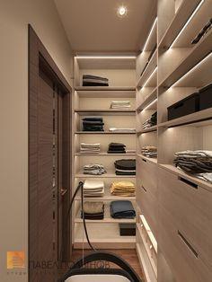 Фото интерьер гардеробной из проекта «Дизайн интерьера трехкомнатной квартиры 127 кв.м., ЖК «Парадный квартал», современный стиль»