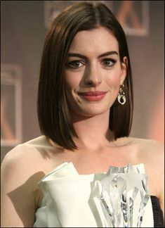 Silly me. I've been googling pictures of Jennifer Aniston's long bob, but Anne Hathaway actually has the same hair type as me, so googling her long bob makes much more sense.