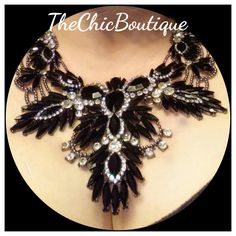 This black necklace is great for day wear like a   T-shirt and jeans or for clubbing at night with your favorite outfit. Pair with our black elegant earrings for a complete look.  Fast and free shipping in the U.S. | Shop this product here: http://spreesy.com/TheChicBoutique/124 | Shop all of our products at http://spreesy.com/TheChicBoutique    | Pinterest selling powered by Spreesy.com