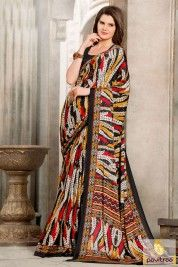 Black and Multi Color Pure Cotton Saree Online #saree, #casualsaree more: http://www.pavitraa.in/wholesale-catalog/