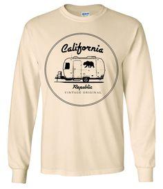 California Republic Vintage Trailer Long Sleeve Shirt