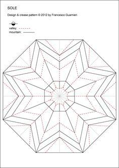 origami, sole 3D - sun, star, Decorazione, istruzioni, diagrammi, CP, foto, stella otto punte, Francesco Guarnieri