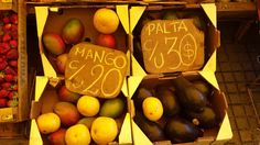 mango y palta o aguacate (esp) X   manga e abacate (port)
