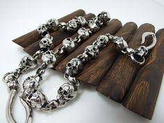 Chrome Plated Skull Biker Trucker Jean Metal Wallet Key Chain SK006 | eBay