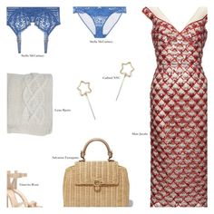 """Red, White, and Blue Fashion - Contest Entry"" by amberelb ❤ liked on Polyvore featuring Marc Jacobs, Gianvito Rossi, STELLA McCARTNEY and Lene Bjerre"