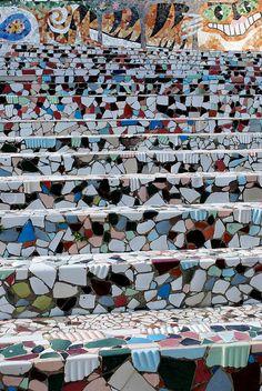 Indian visionary artist Nek Chand's Rock Garden at Chandigarh