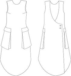 Fresh Fall Outfit Ideas To Try This Season Linen Dress Pattern, Dress Sewing Patterns, Clothing Patterns, Apron Patterns, Sewing Clothes, Diy Clothes, Clothes For Women, Techniques Couture, Sewing Techniques
