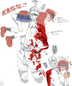 CELLS AT WORK is one of the coolest and funniest anime of the season. Me Anime, Kawaii Anime, Manga Anime, Anime Art, Cute Anime Coupes, Blood Anime, Desenhos Love, Tamako Love Story, Red Blood Cells