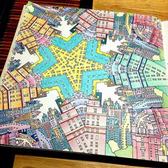 Coloring Books Adult Colouring Buildings Cities