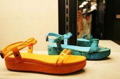 Flatform sandals by Bottega Veneta