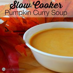 What's better on a cool fall evening after soccer practice than pumpkin soup - hot and ready in the slow cooker? Oh yeah!